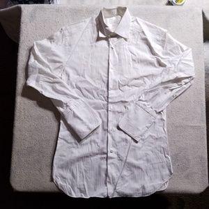 Ermenegildo Zegna White L/S Dress Shirt, Cuffs